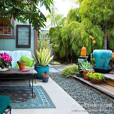 后花园中的色彩...
