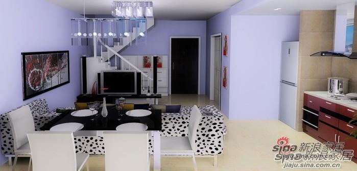 简约 loft 客厅图片来自用户2738845145在120㎡紫色诱人的loft,把爱带回家!67的分享