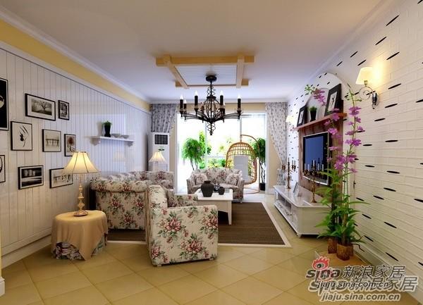 110平米高性价比3居爱家客厅设计
