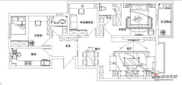 简约 四居 户型图图片来自用户2739153147在13万装132平《都市新宠》主题星城家装49的分享