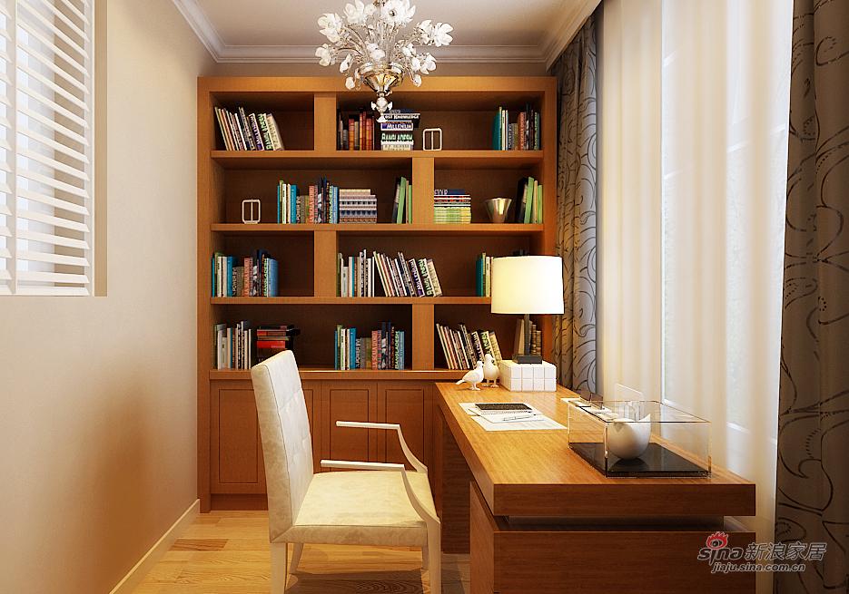 欧式 二居 书房图片来自用户2772873991在9.1万打造上和园著137平(错层)简欧两居室63的分享