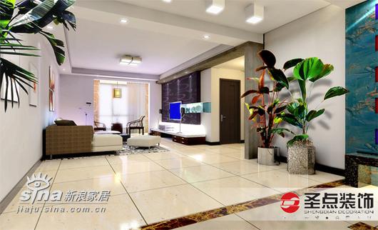 简约 三居 客厅图片来自用户2738820801在主场三居简约经典设计36的分享