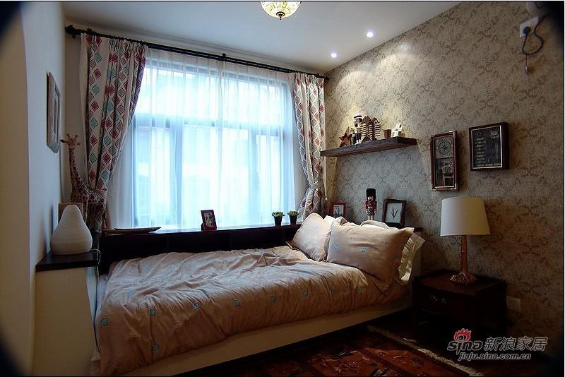 美式 跃层 卧室图片来自用户1907685403在35万装美式乡村290平跃层62的分享
