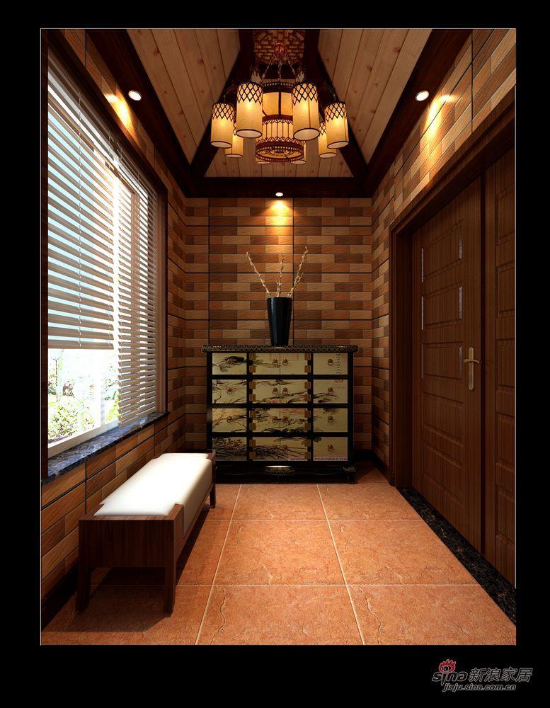 中式 别墅 阳台图片来自用户1907662981在实景230平大气新中式别墅87的分享