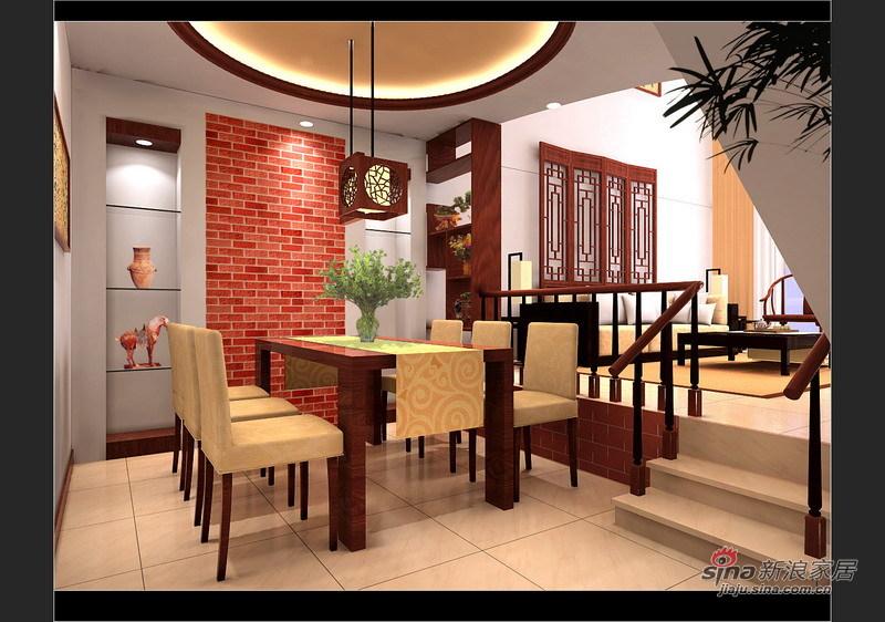 中式 复式 餐厅图片来自用户1907658205在13万装150平古典复式4居40的分享