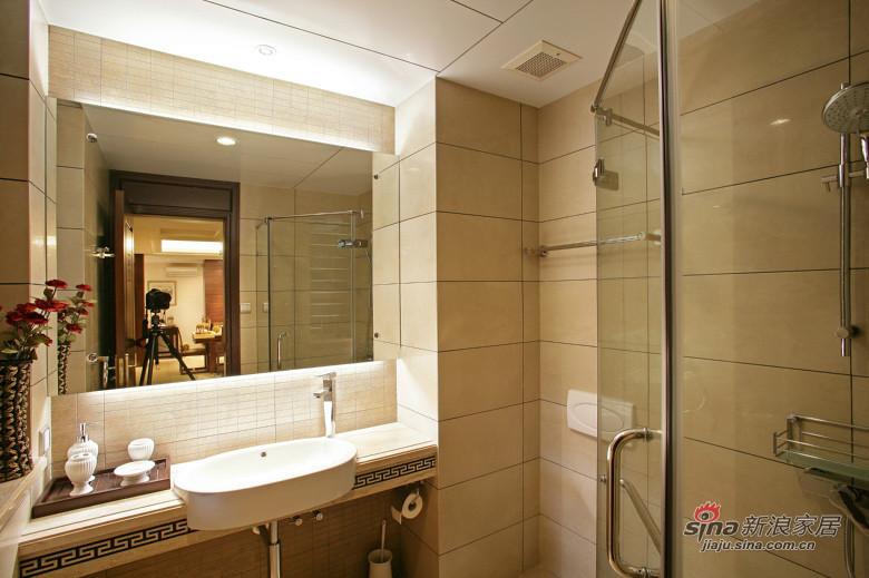 中式 三居 卫生间图片来自装修微日记在【高清】178平中式古典主义大气3居46的分享