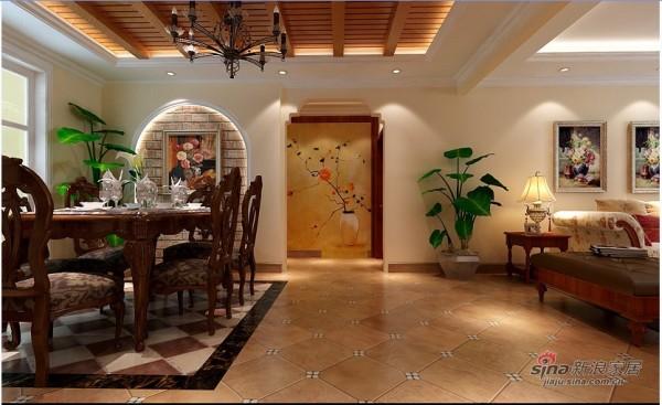 美式乡村-装修效果图-客厅: 客厅作为待