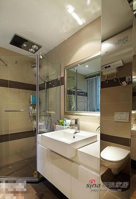 现代 三居 卫生间图片来自佰辰生活装饰在9万打造110平质感元素三居室36的分享