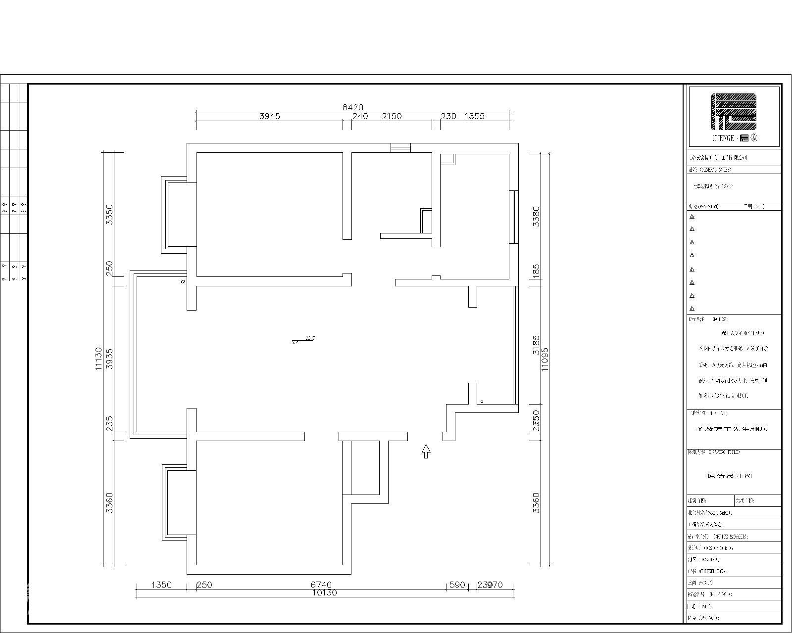 简约 二居 户型图图片来自用户2739081033在圣鑫苑—现代简约78的分享