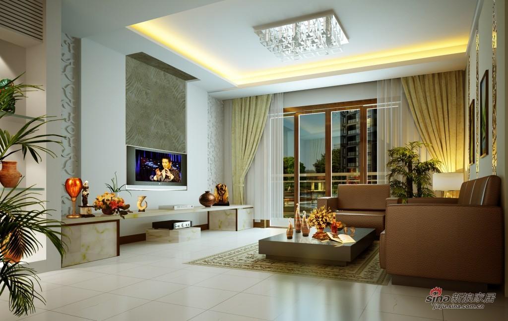 简约 一居 客厅图片来自用户2737759857在高雅暖心2居室完美呈现79的分享