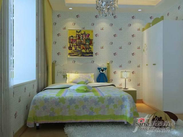 简约 三居 卧室图片来自用户2739153147在8万营造128平白色系贵族香墅97的分享