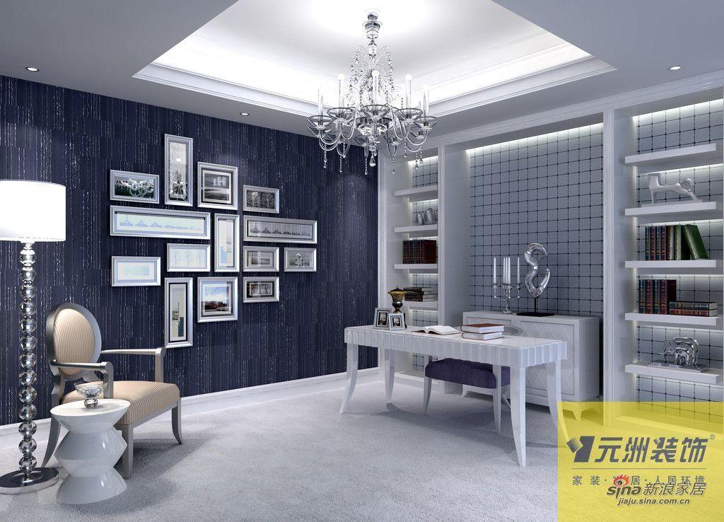欧式 别墅 书房图片来自用户2746869241在尚湖世家300平下叠别墅欧美风46的分享