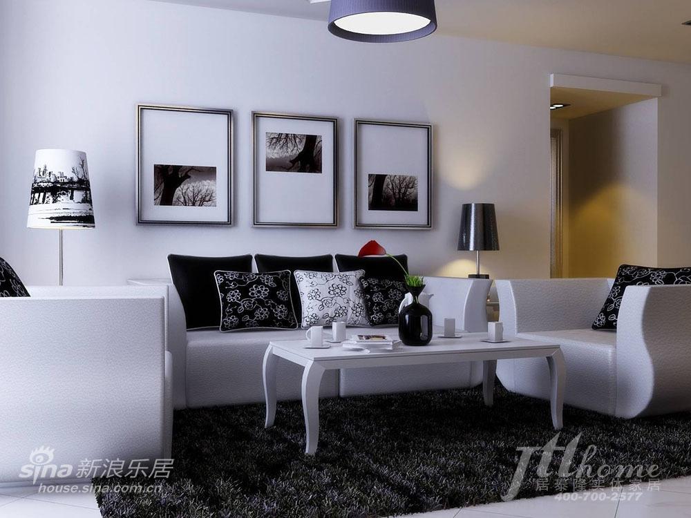 简约 三居 客厅图片来自用户2737735823在游走于黑白之间 纯正简约风格清爽家居方案61的分享