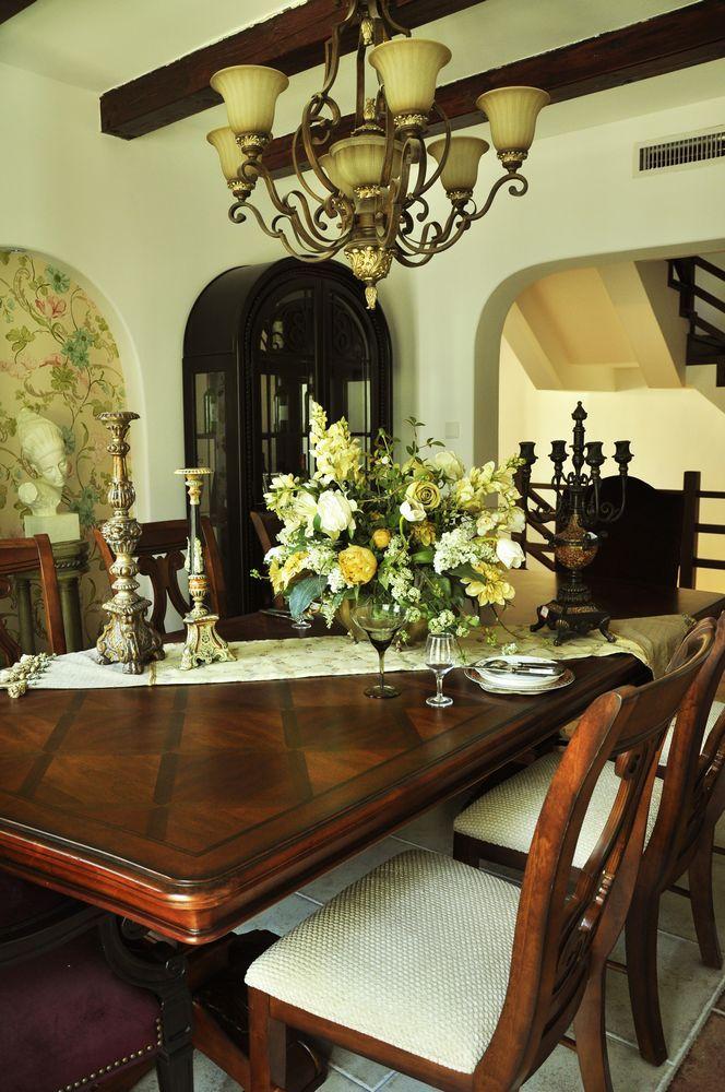 美式 别墅 餐厅图片来自用户1907686233在29万打造330平米美式乡村别墅52的分享