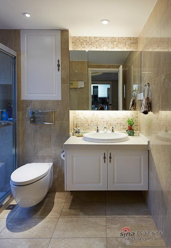 中式 三居 卫生间图片来自佰辰生活装饰在9万打造150平新古典中式家60的分享
