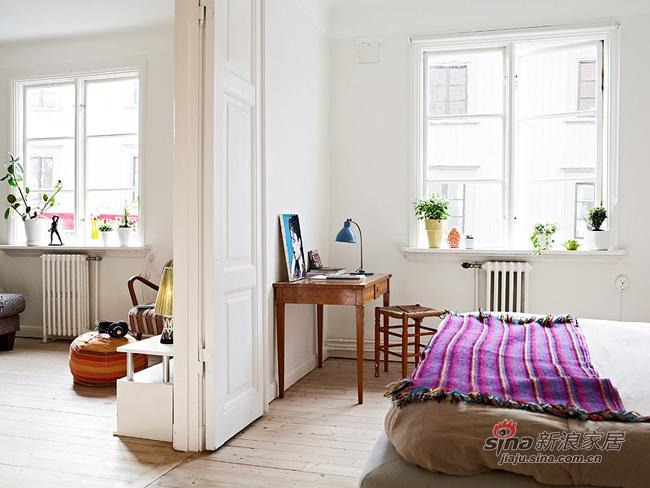 北欧 二居 卧室图片来自用户1903515612在67平一家三口温馨北欧小家21的分享