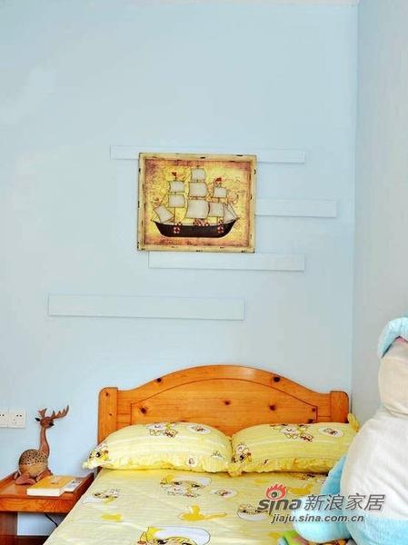 简约 二居 卧室图片来自佰辰生活装饰在13万装85平色彩斑斓童话家23的分享