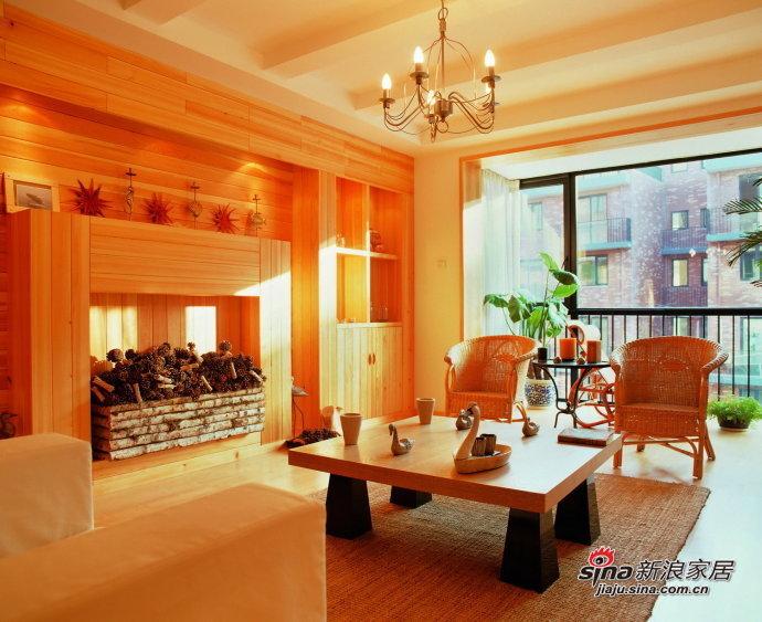 简约 三居 客厅图片来自用户2738813661在8万装135平橙色简约3居室65的分享