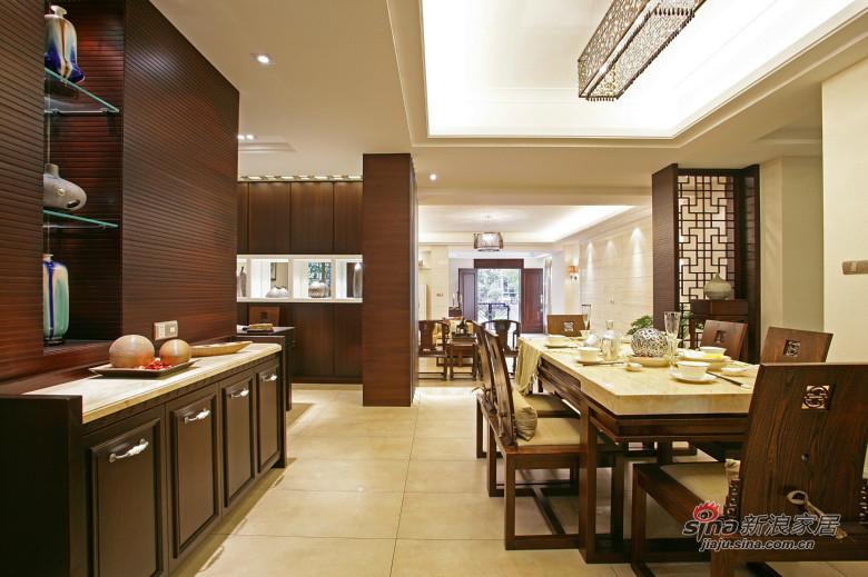 中式 三居 餐厅图片来自装修微日记在【高清】178平中式古典主义大气3居46的分享