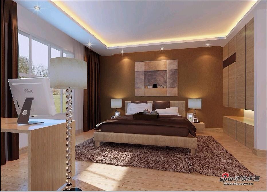 简约 loft 卧室图片来自用户2739378857在8万装122平舒适LOFT三居69的分享