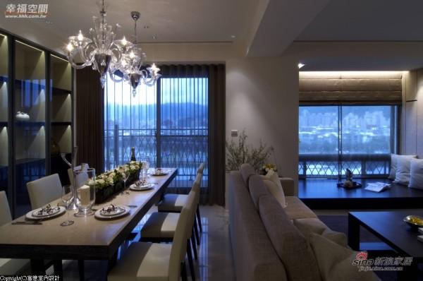 餐厅在结构梁柱接线端自然形成分割线