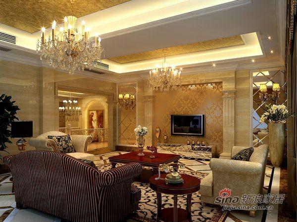 欧式 别墅 客厅图片来自用户2746889121在150平欧式古典主义时尚别墅24的分享