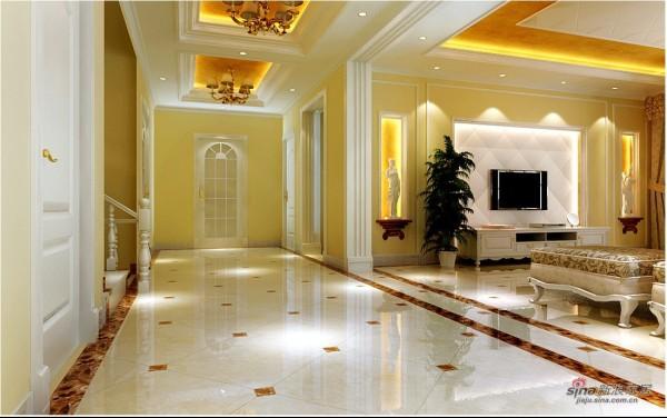 走廊吊顶层次分明装饰感极强