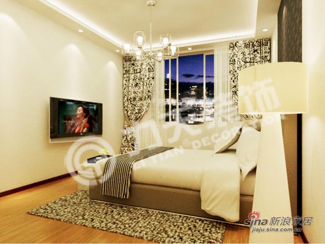 简约 二居 卧室图片来自阳光力天装饰在90平黑白主色调 彰显个性时尚98的分享