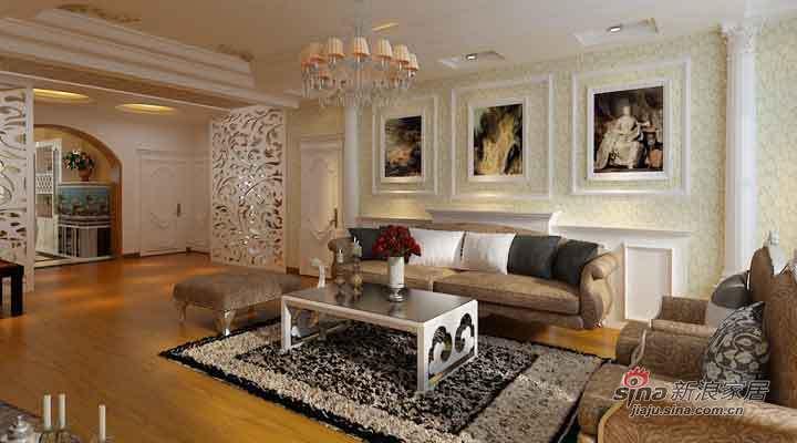 欧式 三居 客厅图片来自用户2757317061在14万打造大正莅江189平简欧三居室87的分享