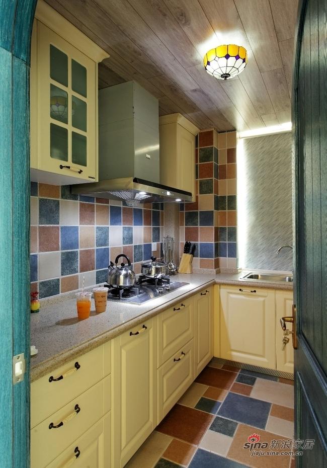 地中海 二居 厨房图片来自用户2757320995在巧手两居室地中海风格84的分享