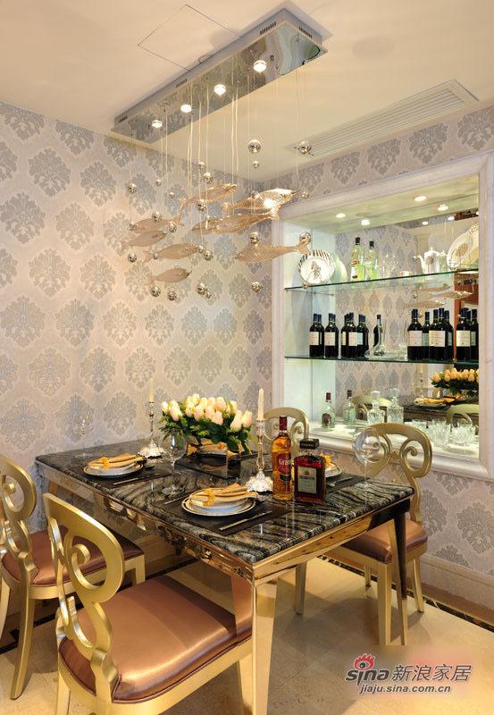 混搭 三居 餐厅图片来自用户1907655435在11万清包精装125平混搭3居33的分享