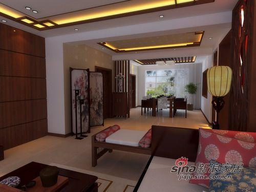 中式 二居 客厅图片来自用户1907659705在118平2居室新中式设计案例效果图85的分享