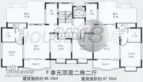 放上原来的房型图,偶家是左边的房型