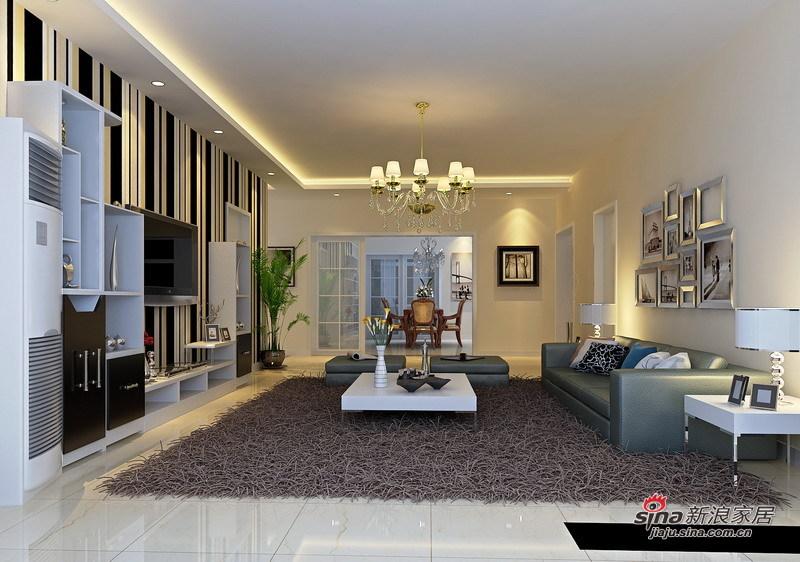 简约 四居 客厅图片来自用户2738093703在简洁实用·时尚的160㎡4居室49的分享