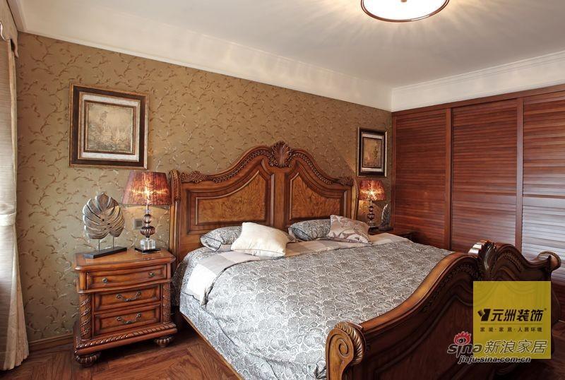 欧式 四居 卧室图片来自用户2745758987在176平米欧美风情设计77的分享