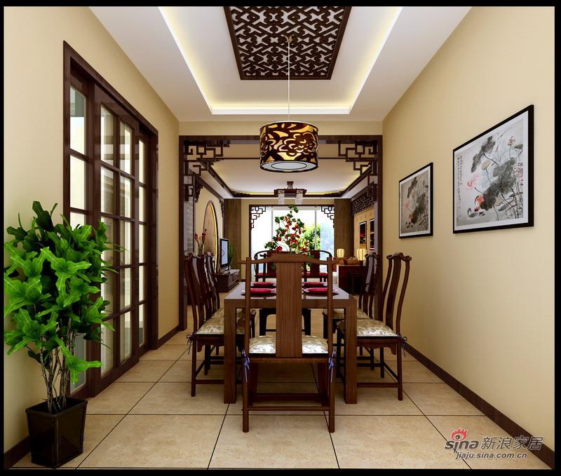 中式 三居 餐厅图片来自用户1907696363在130平静谧优雅古典中式三居花8万16的分享