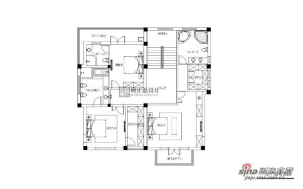 美墅馆三层平面布置