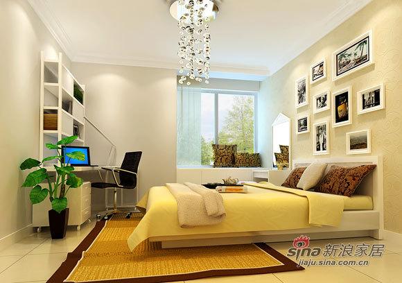 简约 二居 卧室图片来自用户2738845145在5.8万现代80平简约2居婚房72的分享