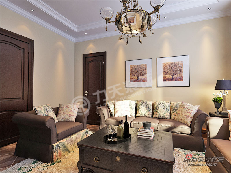 地中海 一居 客厅图片来自阳光力天装饰在华城景苑-1室1厅1卫1厨-地中海风格38的分享