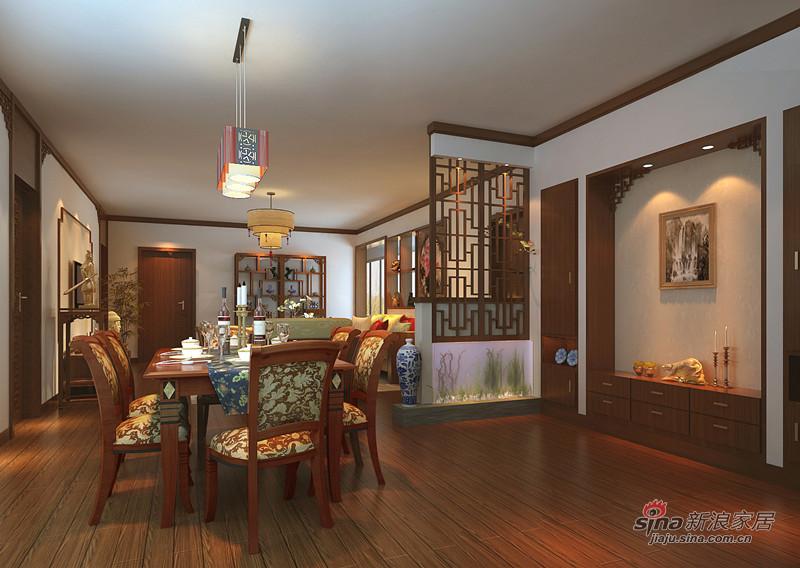 中式 四居 餐厅图片来自用户1907661335在10万巧装160平四居室中式大气风格68的分享