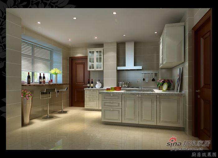 简约 四居 厨房图片来自用户2557010253在10万元打造凸显个性的140㎡四居室30的分享