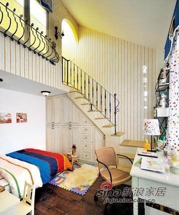 混搭 三居 楼梯图片来自用户1907655435在120平欧式复古混搭小户型公寓71的分享