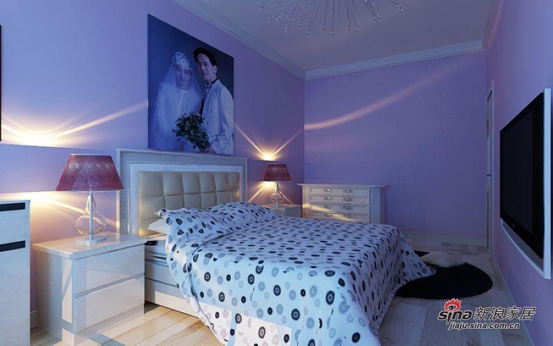 简约 二居 卧室图片来自用户2737759857在5万块钱变革96㎡浪漫两居·hold住?74的分享