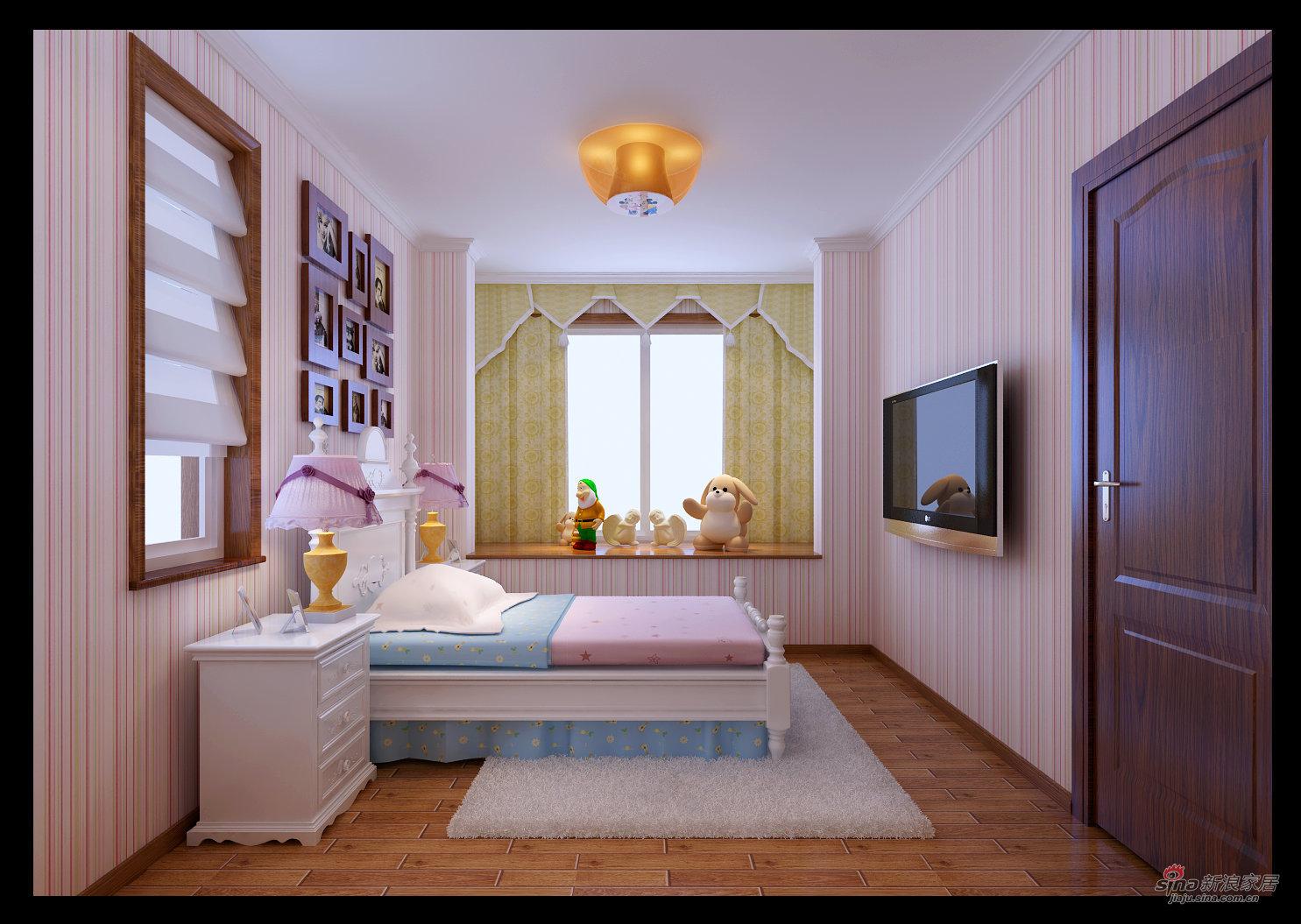 简约 三居 卧室图片来自用户2737759857在金隅花石匠三居简约风格25的分享
