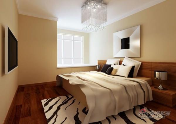 简约 三居 卧室图片来自用户2557010253在简约设计自己来  保利蓝海郡107平三居居室28的分享