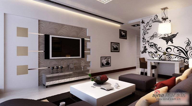 简约 二居 客厅图片来自用户2559456651在5.3万打造时尚90平黑白基调简约婚房74的分享