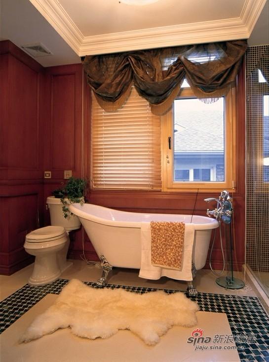美式 复式 卫生间图片来自用户1907685403在13.5万打造186平豪华3居22的分享