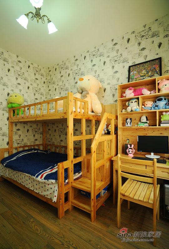 地中海 复式 儿童房图片来自佰辰生活装饰在99平唯美地中海清凉浪漫家44的分享