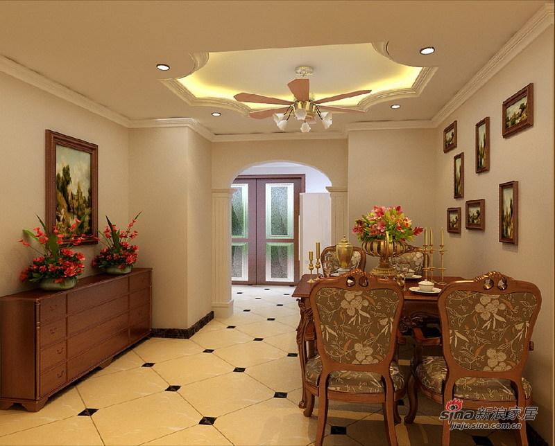 欧式 三居 餐厅图片来自用户2745758987在120平古典欧式风格旧房改造29的分享