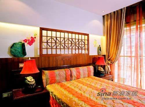 中式 卧室 混搭 屌丝 舒适 温馨图片来自用户2772840321在22款舒适卧室装修 宅家族的窝心体验的分享